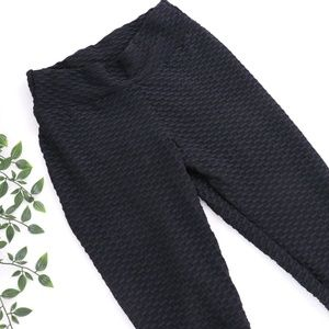 Pants - Black Sexy Booty Leggings Large